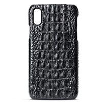 Черный чехол для iPhone XR из кожи крокодила