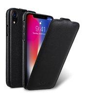 """Черный кожаный чехол флип для iPhone XR (6.1"""") - Premium Leather Case Jacka Type Black"""