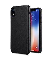 Черный кожаный чехол накладка для iPhone XR