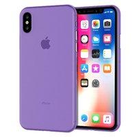Фиолетовый ультратонкий пластиковый чехол для iPhone XS Max 6.5