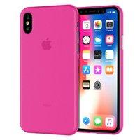 Розовый тонкий пластиковый чехол для iPhone XS Max 6.5