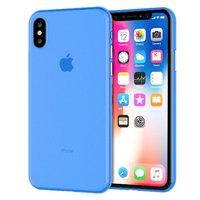 Голубой тонкий пластиковый чехол для iPhone XS Max 6.5