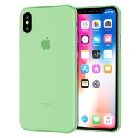 Зеленый тонкий пластиковый чехол для iPhone XS 6.5 Max