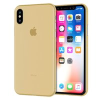 Золотистый тонкий пластиковый чехол для iPhone XS 6.5 Max