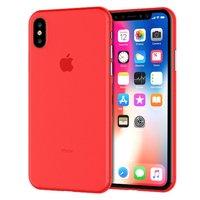 Красный тонкий пластиковый чехол для iPhone XS 6.5 Max