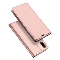 Чехол книжка для iPhone XS Max 6.5 розовое золото