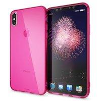 Розовый прозрачный силиконовый чехол для iPhone XS Max 6.5