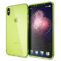 Зеленый прозрачный силиконовый чехол для iPhone XS Max 6.5