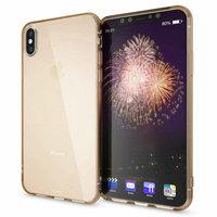 Золотистый прозрачный силиконовый чехол для iPhone XS Max 6.5