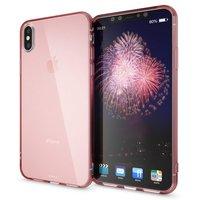 Прозрачный силиконовый чехол для iPhone XS Max 6.5 розовое золото