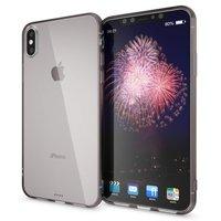 Черный прозрачный силиконовый чехол для iPhone XS Max 6.5