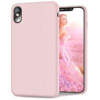 Розовый матовый силиконовый чехол для iPhone XS Max 6.5