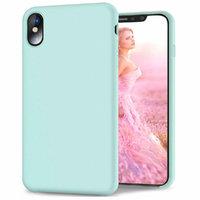 Зеленый матовый силиконовый чехол для iPhone XS Max 6.5