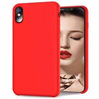 Красный матовый силиконовый чехол для iPhone XS Max 6.5