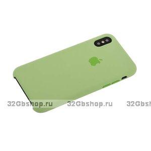 Зеленый Силиконовый чехол для Apple iPhone X / Xs 10 Silicone Case
