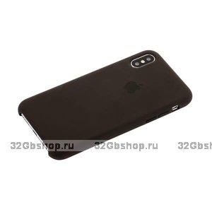 Силиконовый чехол для Apple iPhone X / Xs 10 Silicone Case цвет Cocoa Какао