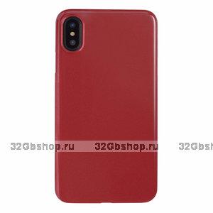 Красный пластиковый чехол для iPhone XS Max 6.5