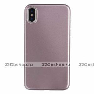 Пластиковый чехол для iPhone XS Max 6.5 розовое золото