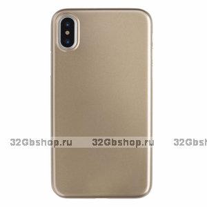 Золотой пластиковый чехол для iPhone XS Max 6.5