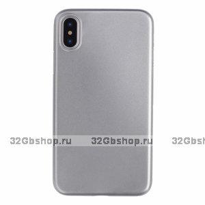 Серебряный пластиковый чехол для iPhone XS Max 6.5