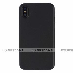 Черный пластиковый чехол для iPhone XS Max 6.5
