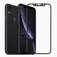 Противоударное защитное 3D стекло для iPhone XR с черной рамкой - 3D Curvy 9H Tempered Glass Black