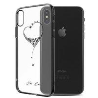 Пластиковый чехол со стразами для iPhone XS Max 6.5 черный - KINGXBAR The One Black