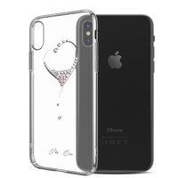Пластиковый чехол со стразами для iPhone XS Max 6.5 серебристый - KINGXBAR The One Silver