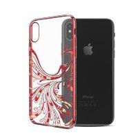 Пластиковый чехол со стразами для iPhone XS Max красный полет - KINGXBAR Flight Red