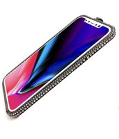Черный алюминиевый бампер со стразами для iPhone XS Max 6.5