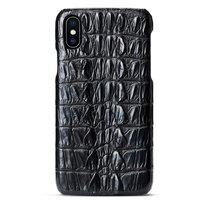 Черный чехол из кожи крокодила для iPhone XS Max 6.5 хвост
