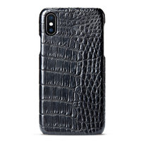 Черный чехол из крокодиловой кожи для iPhone XS Max 6.5 брюхо