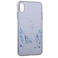 Пластиковый чехол со стразами с рисунком лебедь для iPhone XS Max серебряный бампер - KINGXBAR Swan Silver