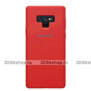 Красный силиконовый чехол для Samsung Galaxy Note 9 - Silicone Cover Red
