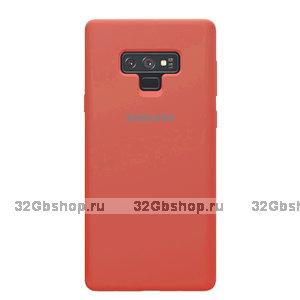 Коралловый силиконовый чехол для Samsung Galaxy Note 9 - Silicone Cover Coral