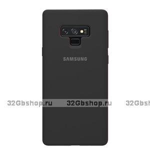 Черный силиконовый чехол для Samsung Galaxy Note 9 - Silicone Cover Black