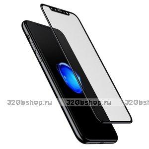 "Стекло защитное для iPhone XS Max (6.5"") - Baseus 3D Pet Soft Tempered Glass 0.23mm Black"