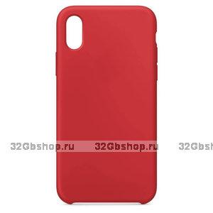 Красный силиконовый чехол Art Case для Apple iPhone XS Max 6.5 - Silicone Case Red