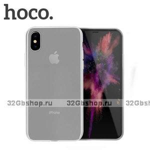 Матовый прозрачный силиконовый чехол для iPhone XS Max 6.5 - Hoco Light Series Matte