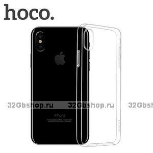 Прозрачный силиконовый чехол для iPhone XS Max 6.5 - Hoco Light Series Transparent