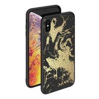 Чехол-накладка закаленное стекло Deppa Glass Case для iPhone XS Max золотой