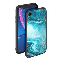 Чехол закаленное стекло Deppa Glass Case для iPhone XR Голубой