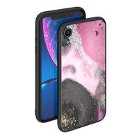 Чехол закаленное стекло Deppa Glass Case для iPhone XR Розовый