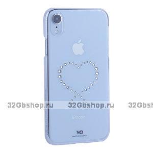 Чехол-накладка White Diamonds Eternity пластик для iPhone XR с кристаллами Swarovski Прозрачный
