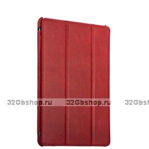 """Красный кожаный чехол для iPad Pro 11"""" 2018 - i-Carer Vintage Series Red"""