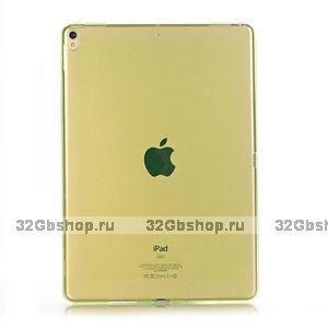 """Зеленый прозрачный силиконовый чехол для iPad Pro 11"""""""