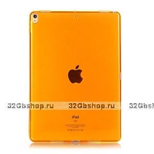 """Оранжевый прозрачный силиконовый чехол для iPad Pro 11"""""""