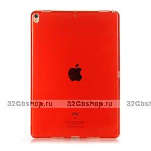 """Красный прозрачный силиконовый чехол для iPad Pro 11"""""""