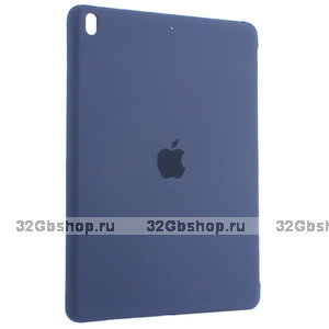 Синий чехол накладка Silicone Case на для iPad 2017 9.7