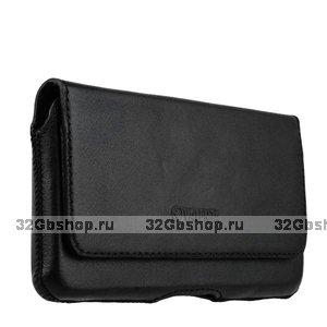 Чехол-кобура кожаный для iPhone XR Valenta Arezzo с двойным креплением на ремень черный